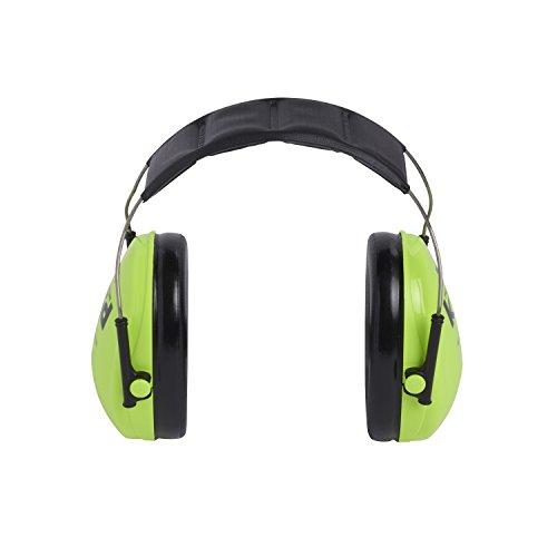 3M Peltor Kid Kapselgehörschützer neongrün / Kinder Gehörschutz mit verstellbarem Kopfbügel für Lärm bis 98dB / SNR 27 Hörschutz mit hohem Tragekomfort & geringem Gewicht - 4