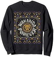 Marvel Black Panther Wakanda Forever Holiday Sweater Sudadera