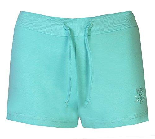 Damen Shorts Beach By Brody & Co ® Sommer Jersey, Baumwolle, Hot Pants Beach Grün - Grün