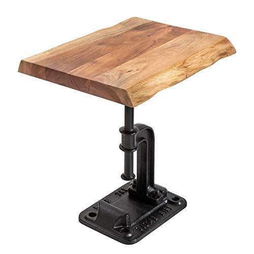 Industrial Design Beistelltisch Factory Akazie Massivholz Industrial Design Wohnzimmertisch Tisch