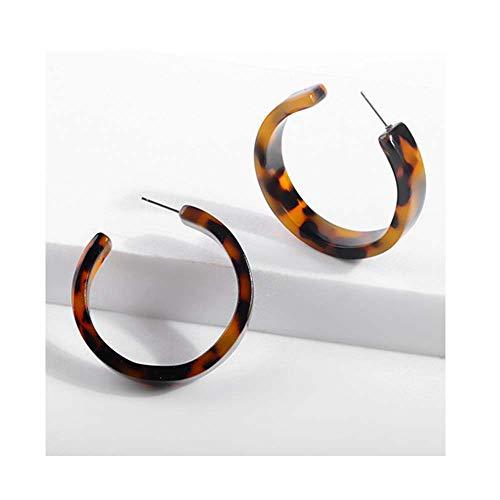 Acrylic Resin Leopard Dangle Earring For Women Tortoiseshell Geometry Acetate Party Jewelry 10564