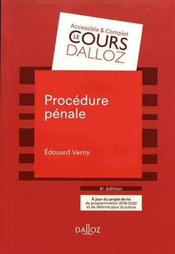 Procédure pénale - 6e éd. par Edouard Verny