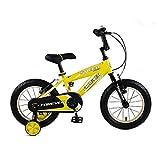 Kinderfahrräder 3-6 Jähriges Schülerfahrrad Mountainbike 14 Zoll Sportfahrräder Kinder (Color : Yellow, Size : 14inches)
