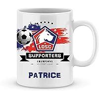 Mug de foot LILLE à personnaliser avec prénom - Cadeau personnalisé foot Ligue1 LILLE
