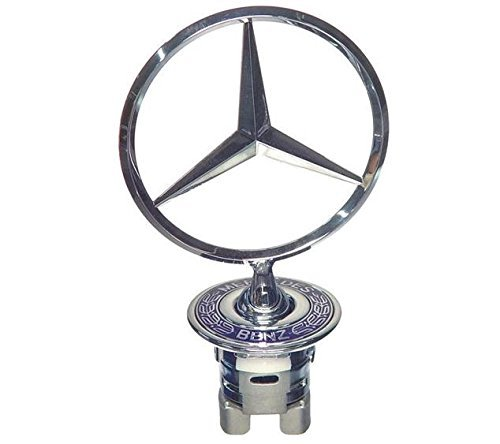 Original Silber Namensschild in Mercedes Benz Motorhaube/Star Emblem alle Modelle Rare