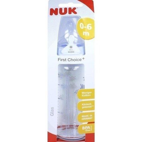 NUK First Choice+ Glasfl.Silikonsaug.Gr.1 M 240 ml 1 St