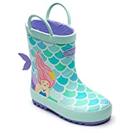 Chipmunks Boys/Girls Kids Infants/Junior Wellies Wellington Boots - Mermaid