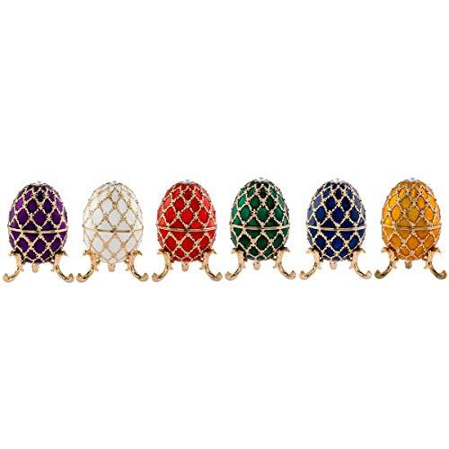 H.Bauer jun. Hochwertiges vergoldetes Eierbecher Set vergoldet rot, weiß, gelb, grün, blau, lila...