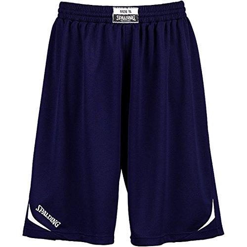 Spalding Attack - Pantaloni corti da basket, colore blu scuro