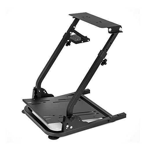 BTdahong Racing Wheel Stand Pro Lenkrad Ständer G29 G27 G25 Faltbar Lenkrad Shifter Halterung Stahl Halter Logitech für Rennspiele, Höhenverstellbar, für Rennspiele an PC und Spielekonsole (Schwarz)