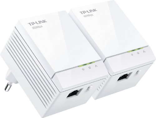 TP-Link TL-PA6010KIT Kit Powerline AV600, 1 Porta Gigabit Ethernet, Plug & Play, Kit con Due Adattatori