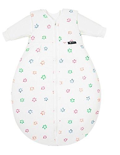 Alvi Kombi-Schlafsack | Baby-Schlafsack 2-teilig, Größe:110, Design:Bunter Stern 583-0