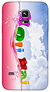 Timpax protective Armor Hard Bumper Back Case Cover. Multicolor printed on 3 Dimensional case with latest & finest graphic design art. Compatible with Samsung Galaxy S-5-Mini Design No : TDZ-24690