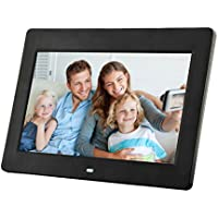Discoball 10 inch Digital Photo Frame [ HD 720p TFT Bright LCD Display | 16:9 Widescreen ] (Black)