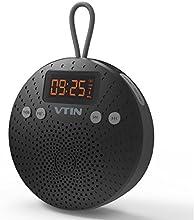 Altavoz Bluetooth Ducha de VicTsing, Radio FM, Despertador y Manos libres, 10 HORAS de Emisión Continua Para HuaWei, XiaoMi, Nexus, HTC, iPhone y iPad, etc (Con Ventosa, Impermeable IPX5 )