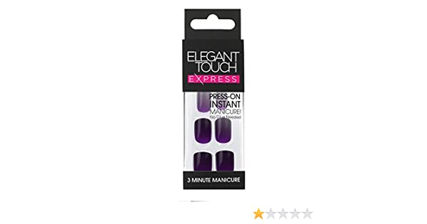 Nail Care, Manicure & Pedicure X4 Elegant Touch Express Stick On Nails