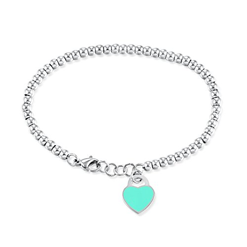 Stilvoll und raffiniert Mode einfache Armband mit herzförmigen Anhänger Dame Perlen Armband...