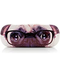 Brillenetui PUG WITH GLASSES black