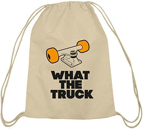 What The Truck, Skateboard Longboard Baumwoll natur Turnbeutel Rucksack Sport Beutel Natur