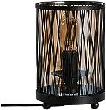 Tischlampe Schreibtischlampe Industrie Wind Tischlampe, Bar Retro Tischlampe Restaurant Tischlampe Glaswasc Eisenschreibtischlampe -Gib Haus hell Dekorative Lichter (Color : Black)