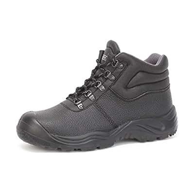 Chaussure de s curit homme montante haute cuir noir id al chantier travaux exterieur - Amazon chaussure de securite ...