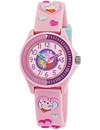 Peppa Pig Girl's Quartz Watch with Pink Dial Analogue Display and Pink Silicone Strap PP001