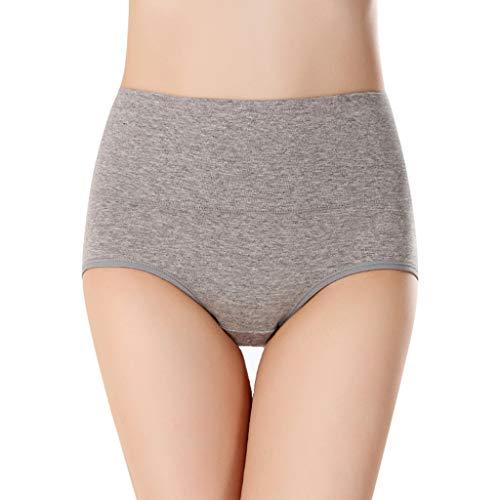 Für Bogen Erwachsene Legolas Kostüm - POPLY Damen Unterwäsche Panties Unterhosen Hohe Taille Einfarbig Grundlegende Stil Tummy Control Cotton Briefs Höschen Hipsters Underwear