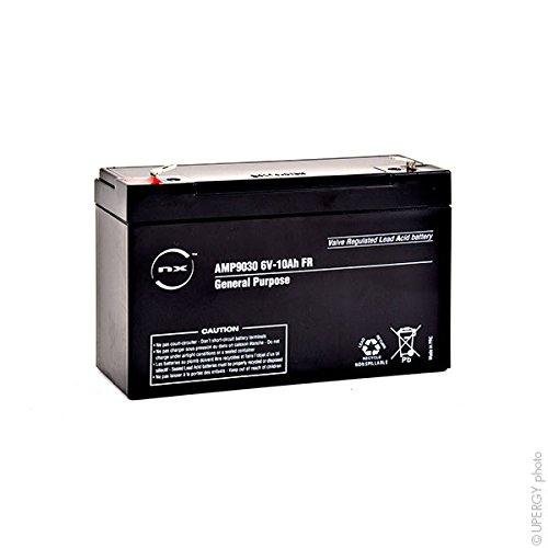 NX - Batteria AGM Piombo S 6V-10Ah FR 6V 10Ah T2 - Unità