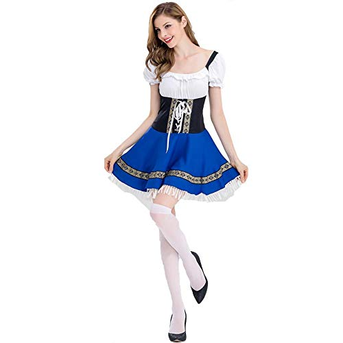 Kostüm Barkeeper Halloween - Yunfeng Hexenkostüm Damen Halloween-Kostüm Frau Bier Kleid Barkeeper Kleid Dienstmädchen Kostüm Overall Party Kostüm