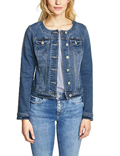 Street one 210978 giacca in jeans, blu (mid blue authentic washed 11779), 48 it donna