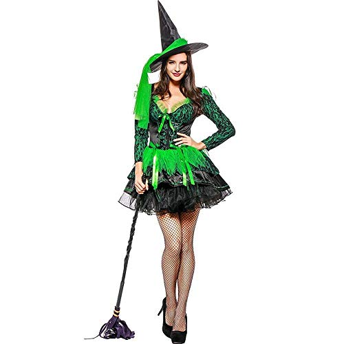 Fashion-Cos1 Zauberer Kostüm Weibliche Sexy Hexe Kostüm Sexy Phantasie Performances Kleid Sexy Halloween Party - Zauberer Kostüm Weiblich