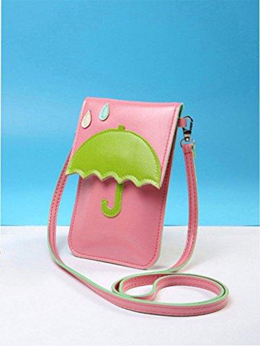 Modakeusu Crossbody borsa a tracolla carino 3D modello animale in sacchetto, Black, Cat Pink