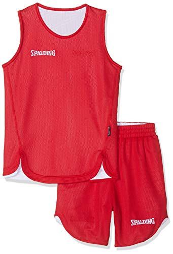 Spalding Kinder DOUBLEFACE KIDS SET Kinder Trikot&shorts Set Trikot Doubleface Set, Mehrfarbig (Reversible Red/White), XS (152)