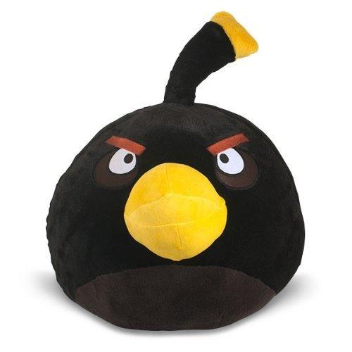 "Angry Birds - Bomb Black Bird Plush - 15cm 6"""