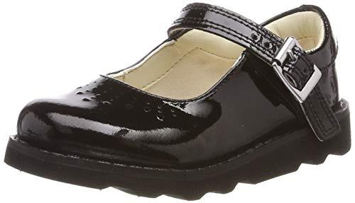 Clarks Mädchen Crown Jump T Schuhe Schwarz (Black Patent) 27 EU Patent Schuhe