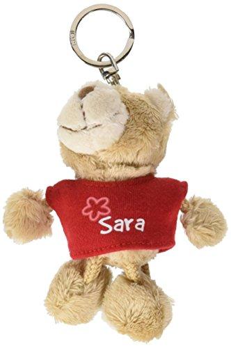 Nici n15839 - portachiavi orsetto con t-shirt sara, rosso