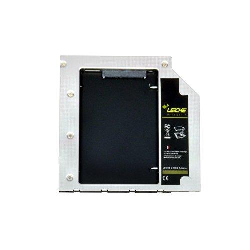 LEICKE DUAL 2.HDD/SSD adattatore SATA per hard disk SATA, compatibile con tutti i notebook SATA con spessore di unitá bay di 9,5mm | Modello di Seconda Generazione SATA drive bay con LEICKE hiper-speed technology (ottimizzato per SSD) Compatibile con: Acer Aspire 4810T 4820TG 4830TG TimelineX 8573TG-2624G64Mnkk TravelMate 8473TG-2414G50Mnkk, - ASUS K56 UX50V U56E-XX028V U46SV-WX036V - DELL Studio XPS-13 Latitude E6400 E6500 E4300 Precision M2400 M4400 M4500 M6600 M4600 Inspiron 15R N5110 14z N411z Vostro 3300 - IBM LENOVO Thinkpad W500 T400 T410 T410s T420s 4174-PEG - Apple MacBook Pro v5 15 Aluminium Pro 17