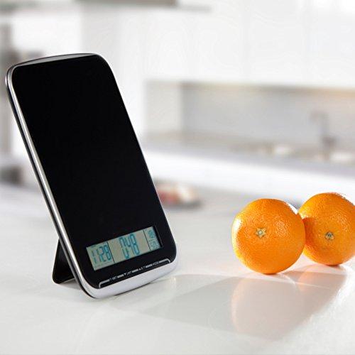 XL Multifunktions Küchenwaage mit Glasoberfläche, wiegt bis 10Kg, Touchbedienfeld, schwarz - 4
