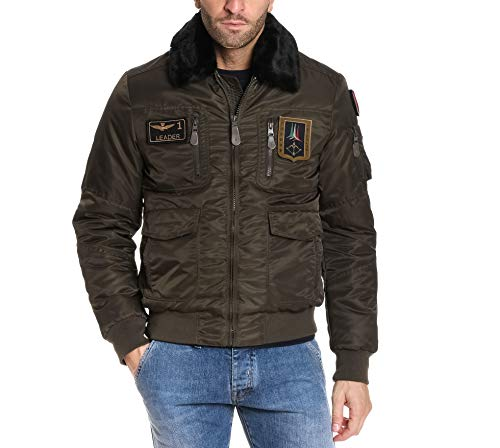 Aeronautica militare giacca outerwear uomo ab1676ct181139239 poliestere verde