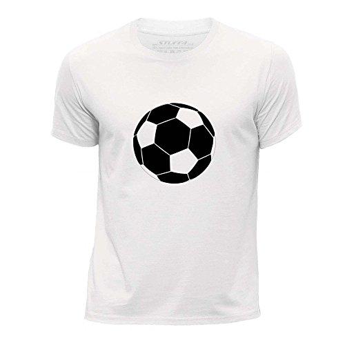 STUFF4 Jungen/Alter 3-4 (98-104cm)/Weiß/Rundhals T-Shirt/Sport / Fußball (Fußball-kleid)