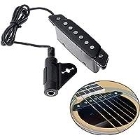 SILENCEBAN - Pastilla acústica para guitarra acústica con destornillador y conector de alimentación activo para guitarra acústica