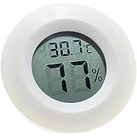 LAAT termometro igrometro Digitale Rotondo sensore di umidità del Monitor Schermo LCD per Scatola Rettile Tartaruga Dorato