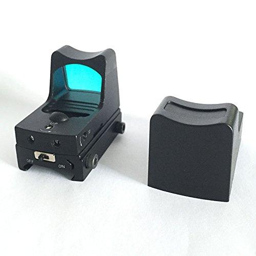 WorldShopping4U Tactical Airsoft Reflex Micro Mini Point de vue rouge avec interrupteur ON / OFF Pour 20mm Weaver Rail G17 18