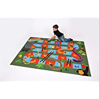 Be-Active Giant Jungle SNAKES AND LADDERS Mat (200 x 150cm) - indoor & outdoor use