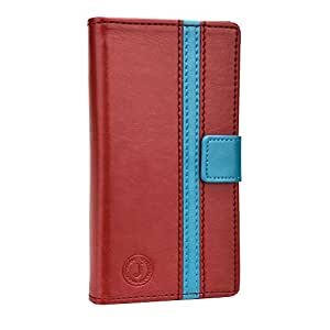 Jo Jo Pluto Series Cover Leather Pouch Flip Case For Samsung Galaxy Grand On Red Light Blue