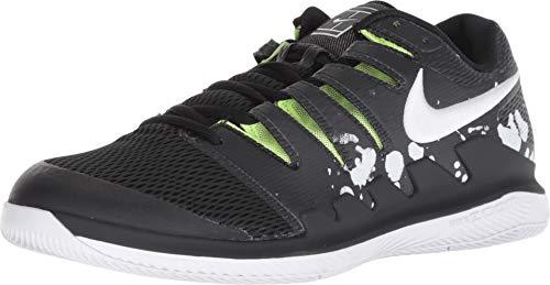 Nike Air Zoom Vapor X - Scarpe da Tennis da Uomo, Nero (Black/White-Volt Glow), 46 EU
