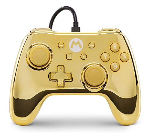 Mando cable PowerA Nintendo Switch Mario Oro