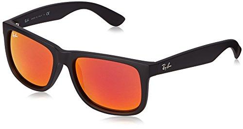 Ray-Ban Justin RB4165 - Gafas de sol Unisex, Negro (Rojo 622/6Q), 55 mm