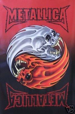 (24x 36) Póster de Metallica Música (Yin y Yang y calavera)