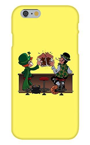 Apple iPhone 6Custom Fall Weiß Kunststoff Snap auf Irische Trinken Charme und Basketball Buddies (Ipod 5 Fällen Basketball)